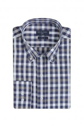 قميص رجالي سليم فيت كاروهات