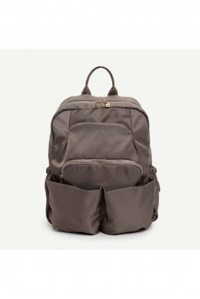 حقيبة ظهر نسائية بجيوب