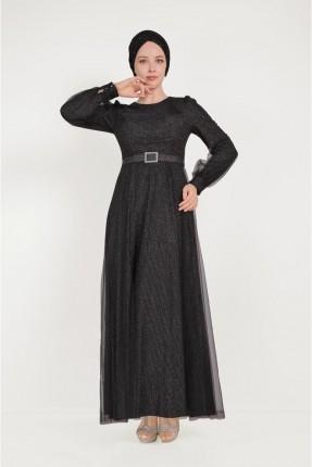 فستان رسمي مزين بحزام