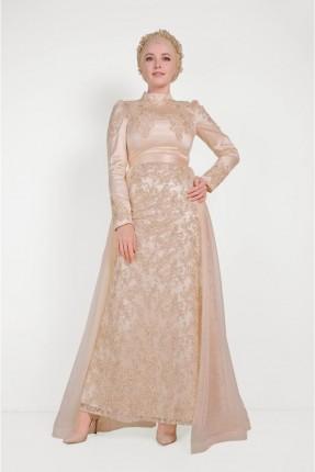 فستان رسمي مزين بالدانتيل
