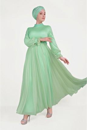 فستان رسمي مزين بكشكش