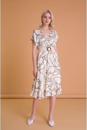 فستان سبور بنقشة حبال