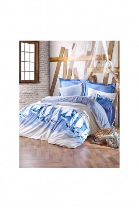 طقم غطاء سرير مزدوج مزين برسم