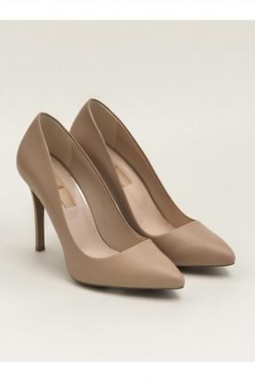 حذاء نسائي جلد بكعب مسماري