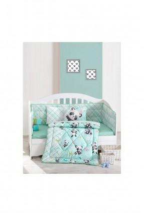 طقم لحاف سرير بيبي برسومات