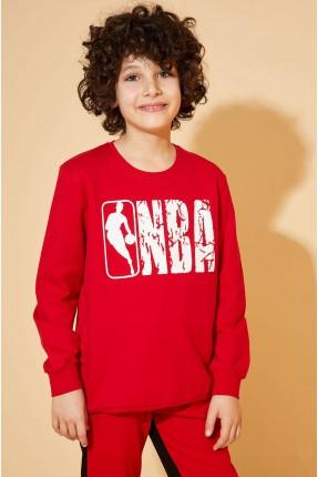 كنزة اطفال ولادي بطبعة NBA