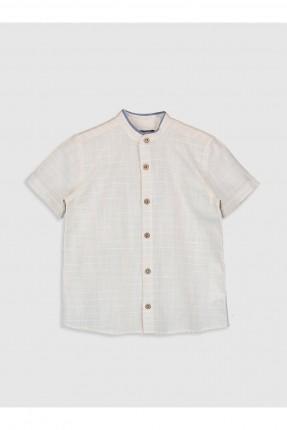 قميص اطفال ولادي بنقشة مربعات