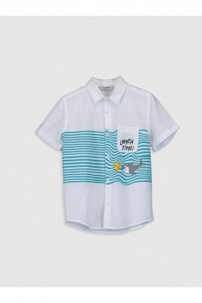 قميص اطفال ولادي بطبعة بحر