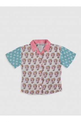 قميص اطفال بناتي بنقشة
