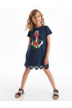 فستان اطفال بناتي بطبعة مرساة