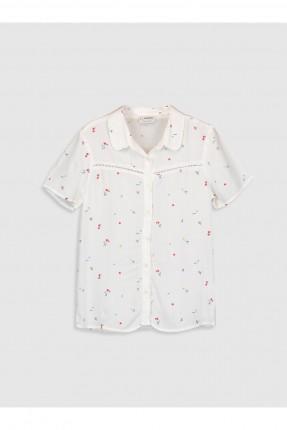 قميص اطفال بناتي مزين بورود ناعمة