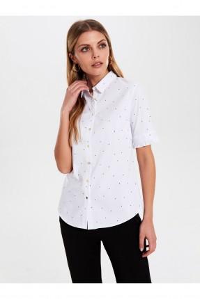 قميص نسائي منقط