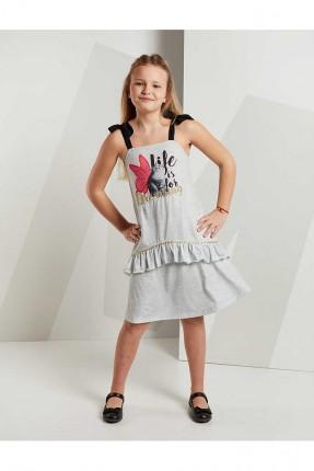 فستان اطفال بناتي بطبعة ملونة