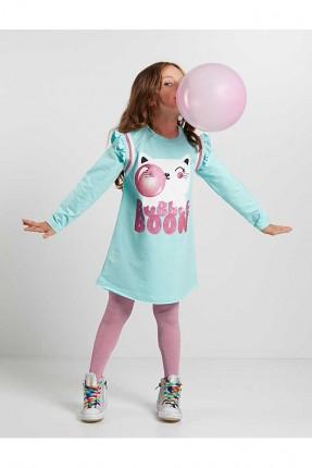 فستان اطفال بناتي بطبعة قطة