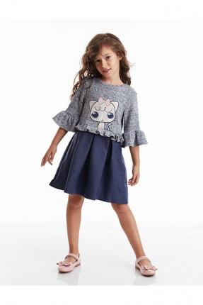 فستان اطفال بناتي بطبعة وكشكش