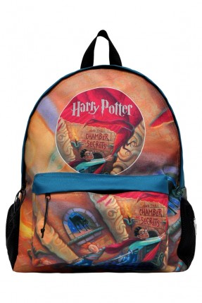 حقيبة ظهر اطفال ولادي بطبعة غرفة اسرار هاري بوتر