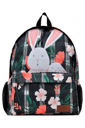 حقيبة ظهر اطفال بناتي بطبعة ارنب