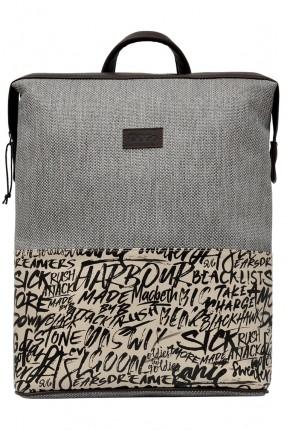 حقيبة ظهر رجالية بكتابات