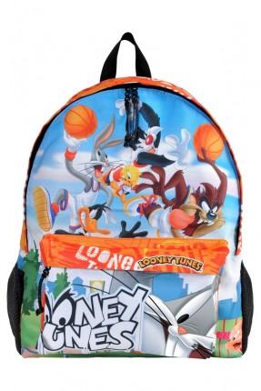حقيبة ظهر اطفال ولادي بطبعة شخصيات لوني تونز