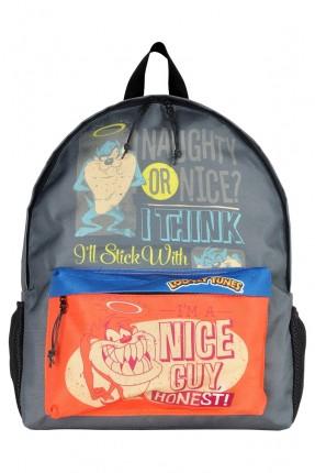 حقيبة ظهر اطفال ولادي بطبعة تاز المشاكس