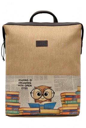 حقيبة ظهر رجالية مزينة بكتابات