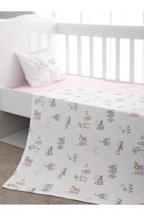 طقم بطانية سرير بيبي مزين برسومات