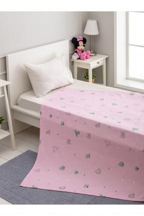بطانية سرير اطفال بناتي مزين برسم