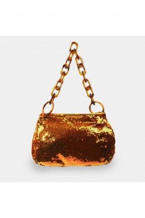 حقيبة يد نسائية مزينة بترتر