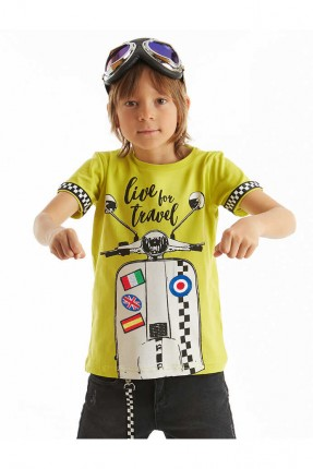 تيشرت اطفال ولادي بطبعة دراجة نارية