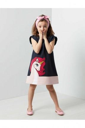 فستان اطفال بناتي بطبعة يونيكورن