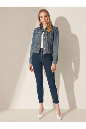 جاكيت نسائي جينز قصير