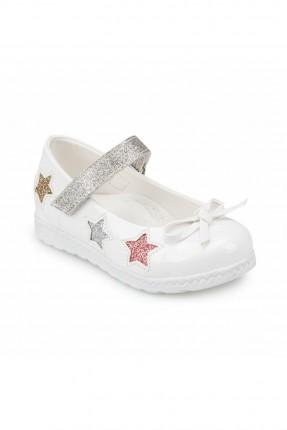 حذاء بيبي بناتي بطبعة نجوم على الجانب