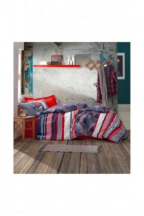 طقم غطاء سرير اطفال مخطط