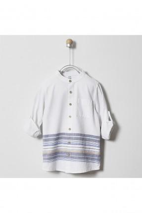 قميص اطفال ولادي بخطوط ملونة