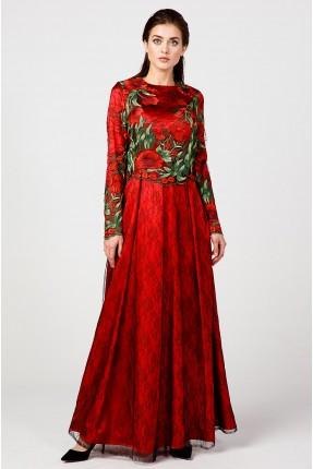 فستان رسمي شيك مزهر