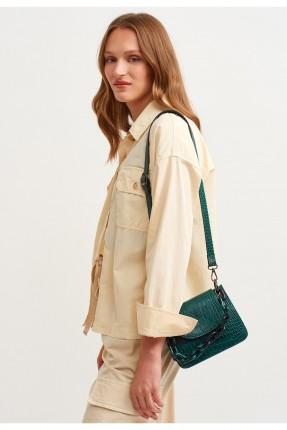 حقيبة يد نسائية مزخرفة مزينة بسلسلة