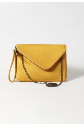 حقيبة يد نسائية مزينة بسلسلة معدنية