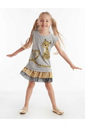فستان اطفال بناتي بطبعة نمر