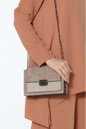 حقيبة يد نسائية مزين بقطعة معدنية