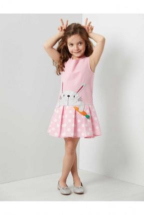 فستان اطفال بناتي بطبعة ارنب