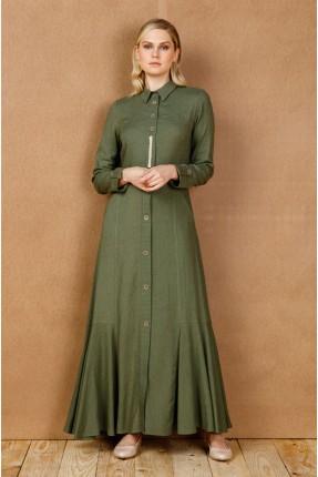 فستان سبور بازرار من المنتصف