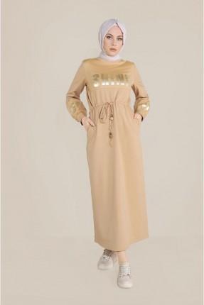 فستان سبور مزين بكتابة