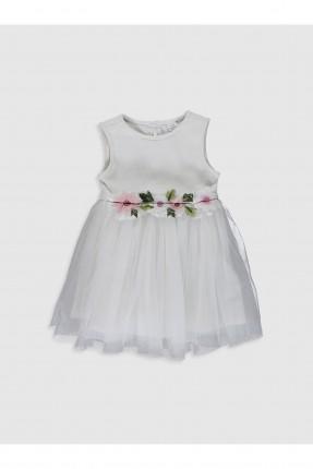 فستان بيبي بناتي مزين بورود