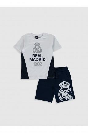 طقم اطفال ولادي بطبعة نادي ريال مدريد