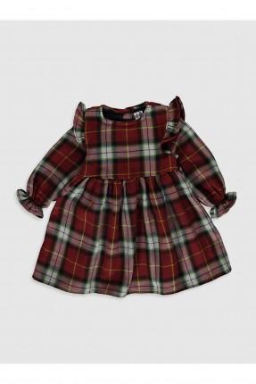 فستان بيبي بناتي بطبعة مربعات ملونة