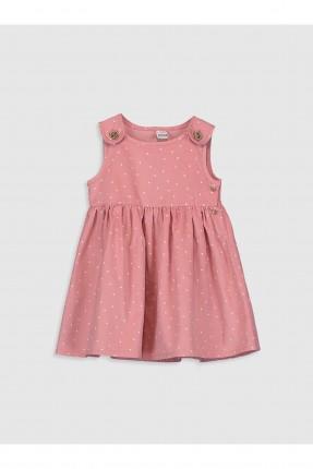 فستان بيبي بناتي مخمل منقط