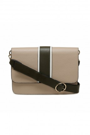 حقيبة يد نسائية مزينة بقفل معدني
