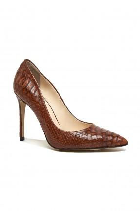 حذاء نسائي جلد مزخرف