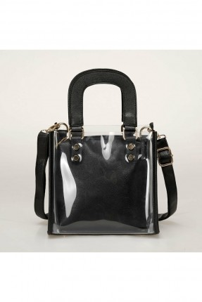 حقيبة يد نسائية شفافة