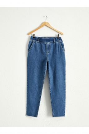 بنطال نسائي جينز بخصر مطاط من الخلف
